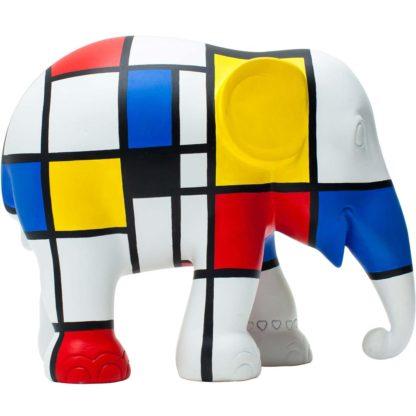 Elephant Parade elefantino Hommage to Mondriaan