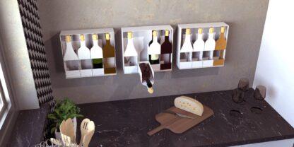Cuattro Rabot porta bottiglie da muro