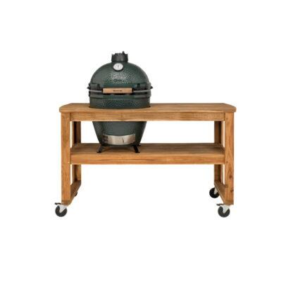 BGE Tavolo in acacia con ruote per barbecue L