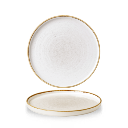 Churchill Stonecast Barley White Chefs' Walled Plate 21 cm
