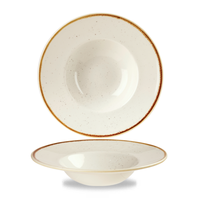 Churchill Stonecast Barley White Wide Rim Bowl 24 cm