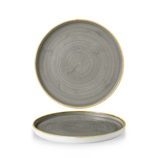 Churchill Stonecast Peppercorn Grey Chefs' Walled Plate 21 cm