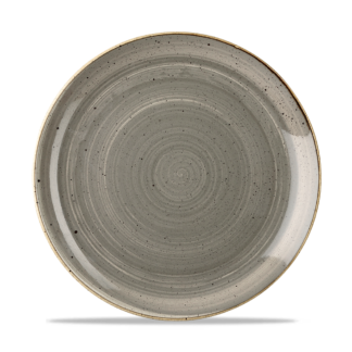 Churchill Stonecast Peppercorn Grey Evolve Coupe Plate 26 cm