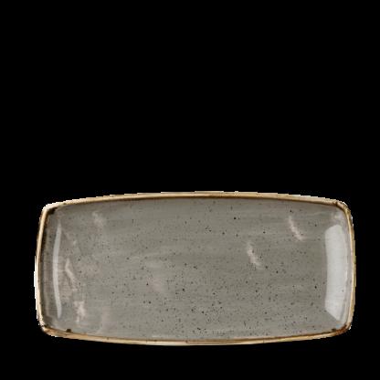 Churchill Stonecast Peppercorn Grey Oblong Plate 29,5x14 cm