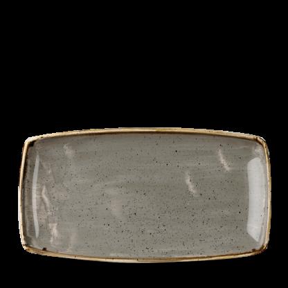 Churchill Stonecast Peppercorn Grey Oblong Plate 34,5x18,5 cm