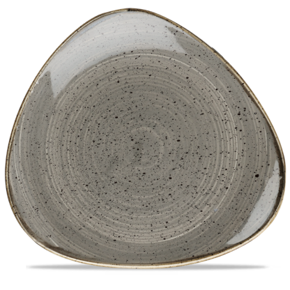 Churchill Stonecast Peppercorn Grey Triangle Plate 31,1 cm