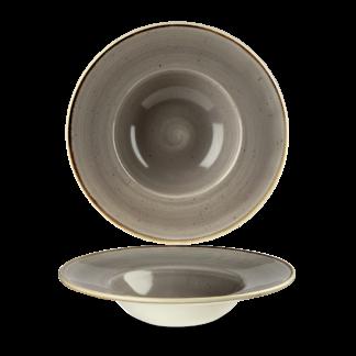 Churchill Stonecast Peppercorn Grey Wide Rim Bowl 24 cm