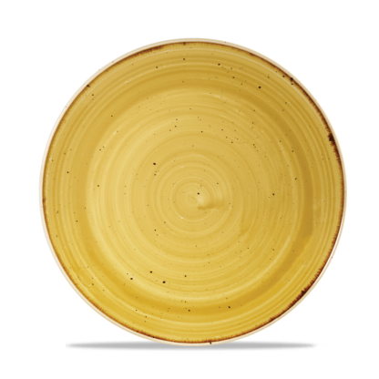 Churchill Stonecast Mustard Yellow Evolve Coupe Plate 21,7 cm