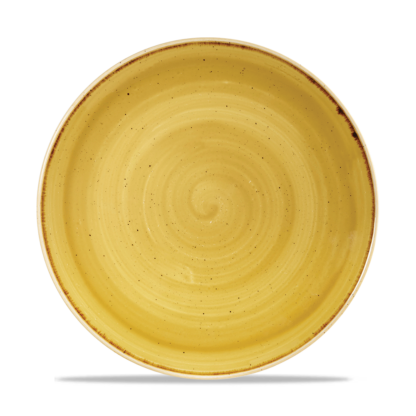 Churchill Stonecast Mustard Yellow Evolve Coupe Plate 26 cm