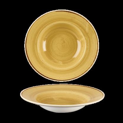 Churchill Stonecast Mustard Yellow Wide Rim Bowl 23,88 cm