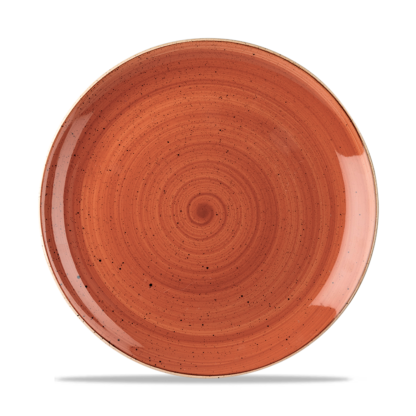 Churchill Stonecast Spiced Orange Evolve Coupe Plate 26 cm