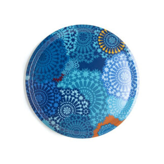 Images d'Orient Vassoio Rotondo 38 cm Moucharabieh Blue