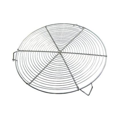 De Buyer Griglia rotonda 32 cm a 3 piedi in acciaio nichelato