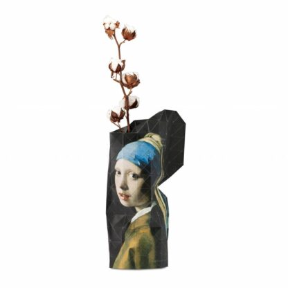 Tiny Miracles Paper vase cover Girl with a Pearl Earring