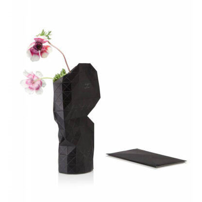 Tiny Miracles Paper vase cover Black