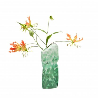 Tiny Miracles Paper vase cover Green gradient