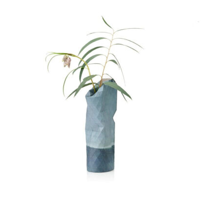 Tiny Miracles Paper vase cover Watercolour blue