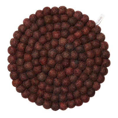 Aveva Sottopentola Rotondo Berry large in feltro di lana