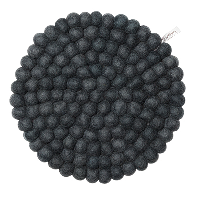 Aveva Sottopentola Rotondo Dark Grey large in feltro di lana