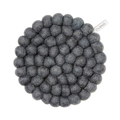 Aveva Sottopentola Rotondo Dark Grey small in feltro di lana