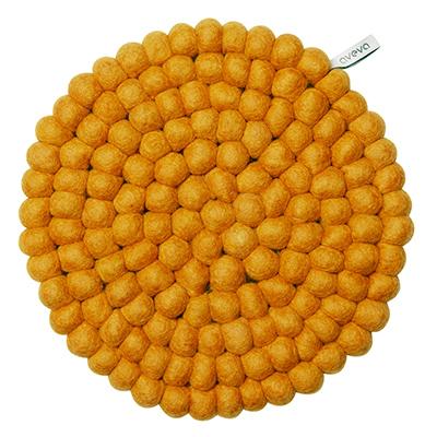 Aveva Sottopentola Rotondo Mustard large in feltro di lana