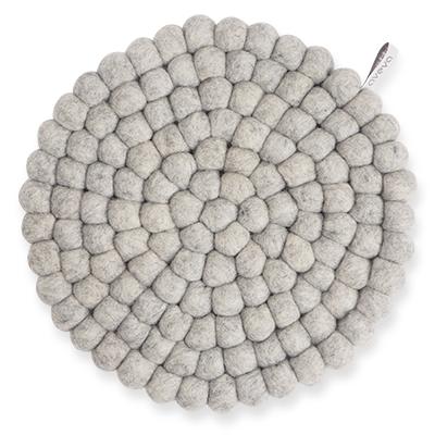Aveva Sottopentola Rotondo Raw Grey large in feltro di lana