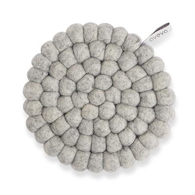 Aveva Sottopentola Rotondo Raw Grey small in feltro di lana