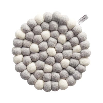 Aveva Sottopentola Rotondo White Dots small in feltro di lana