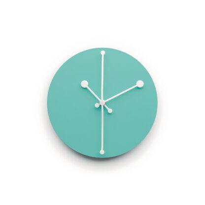 Alessi ABI11 Dotty Clock Orologio da parete azzurro