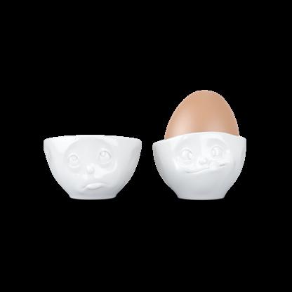 Tassen Set 2 portauovo Oh please &Tasty white